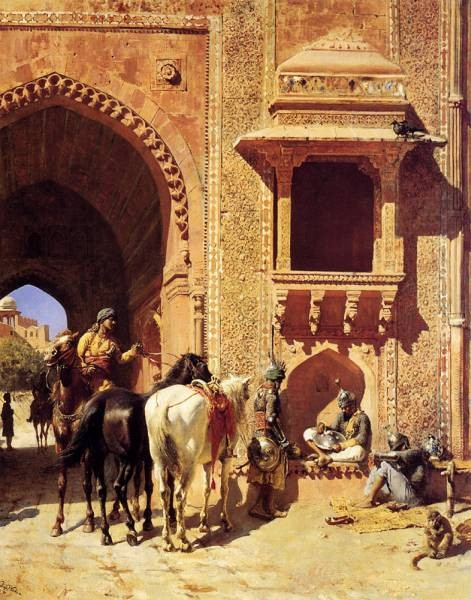 Weeks Edwin Gate Of The Fortress At Agra India